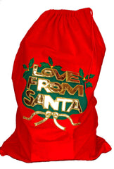 89 CM CHRISTMAS LOVE FROM SANTA SACK