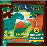 Mudpuppy Magnetic Puzzle Mighty Dinosaurs