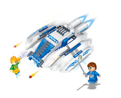 BANBAO SPACE FIGHTER (BLUE) 252 PIECE (6408)