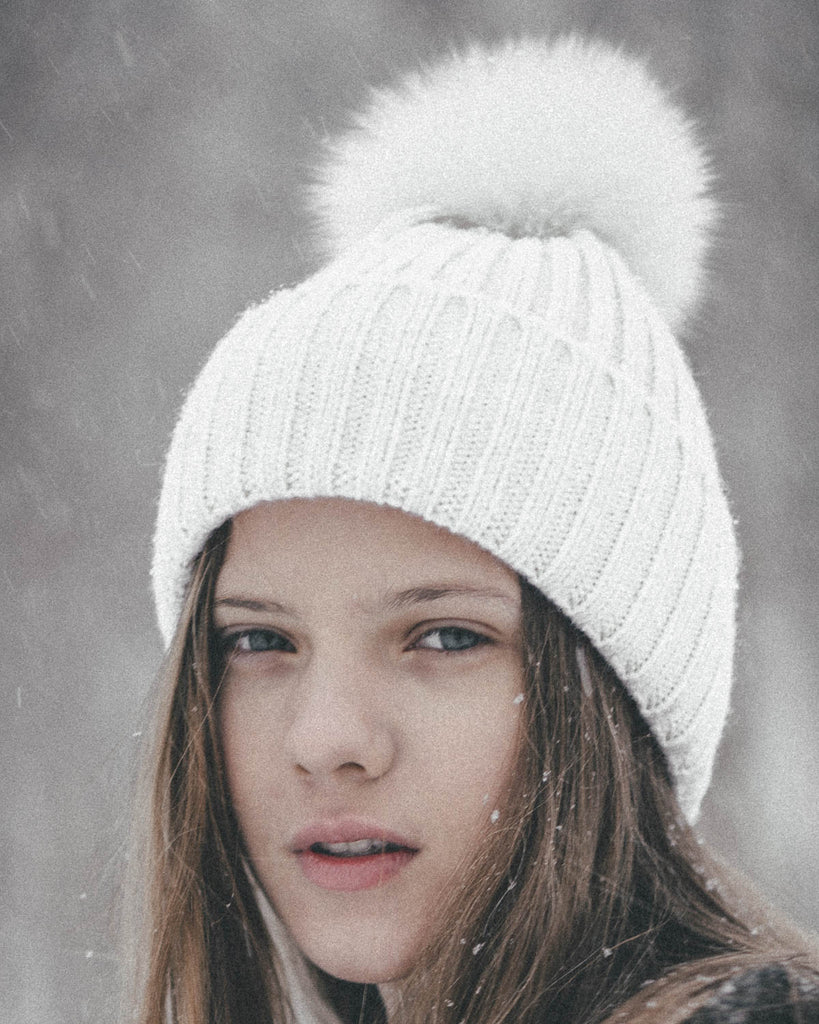 White on White Beanie in Folkr