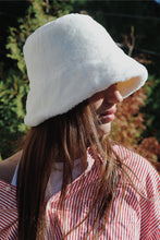 Load image into Gallery viewer, Faux Fur Bucket Hat - White