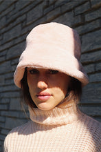 Load image into Gallery viewer, Faux Fur Bucket Hat - Light Pink