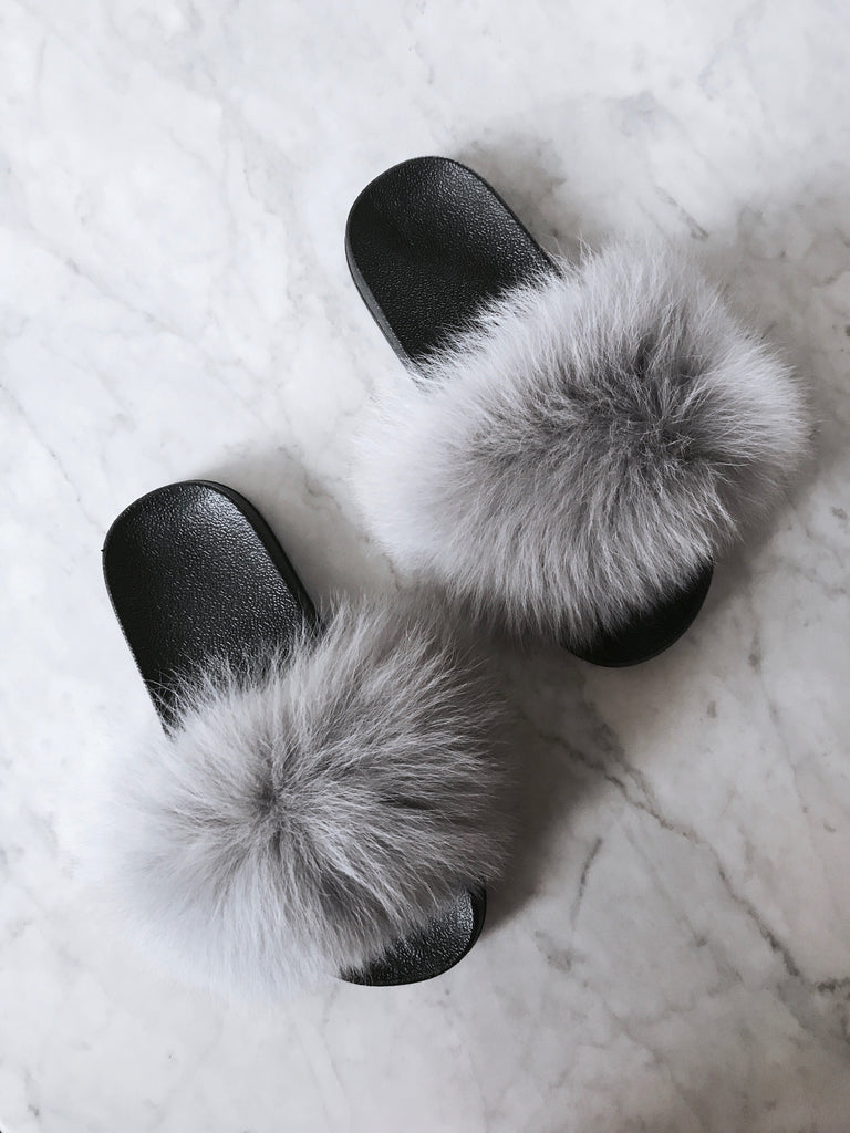 Grey Fur Slides