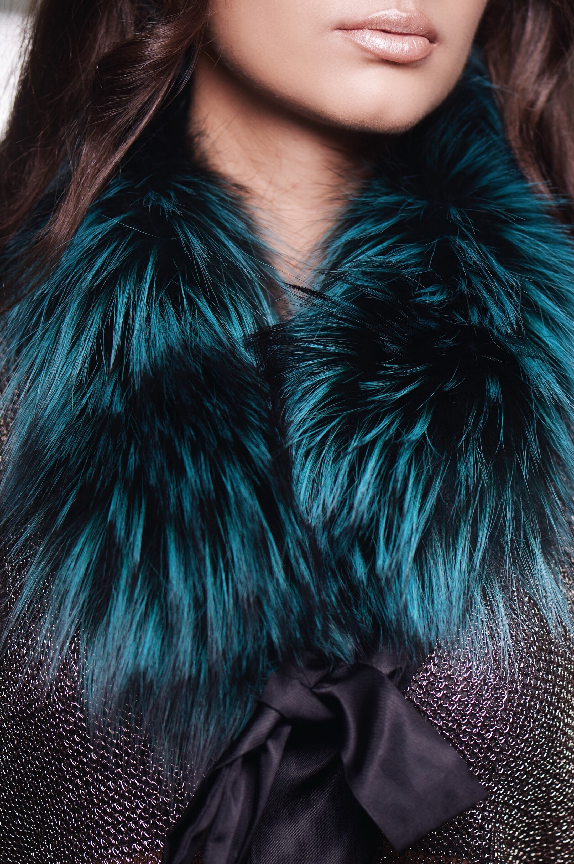 Teal Fox Collar