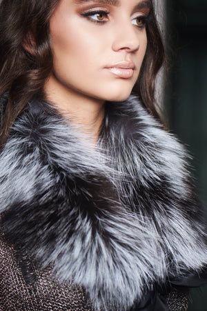 Icy Silver Fox Collar