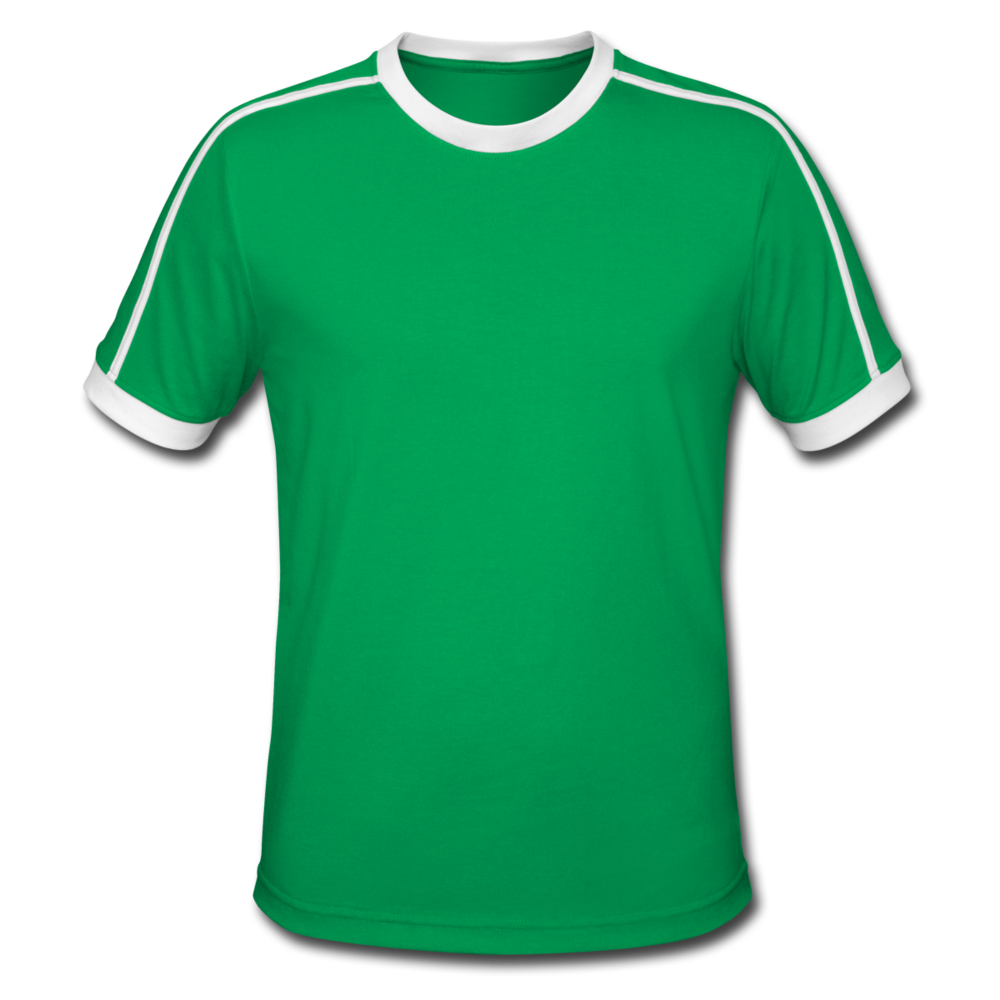 Men's Retro T-Shirt - kelly green/white