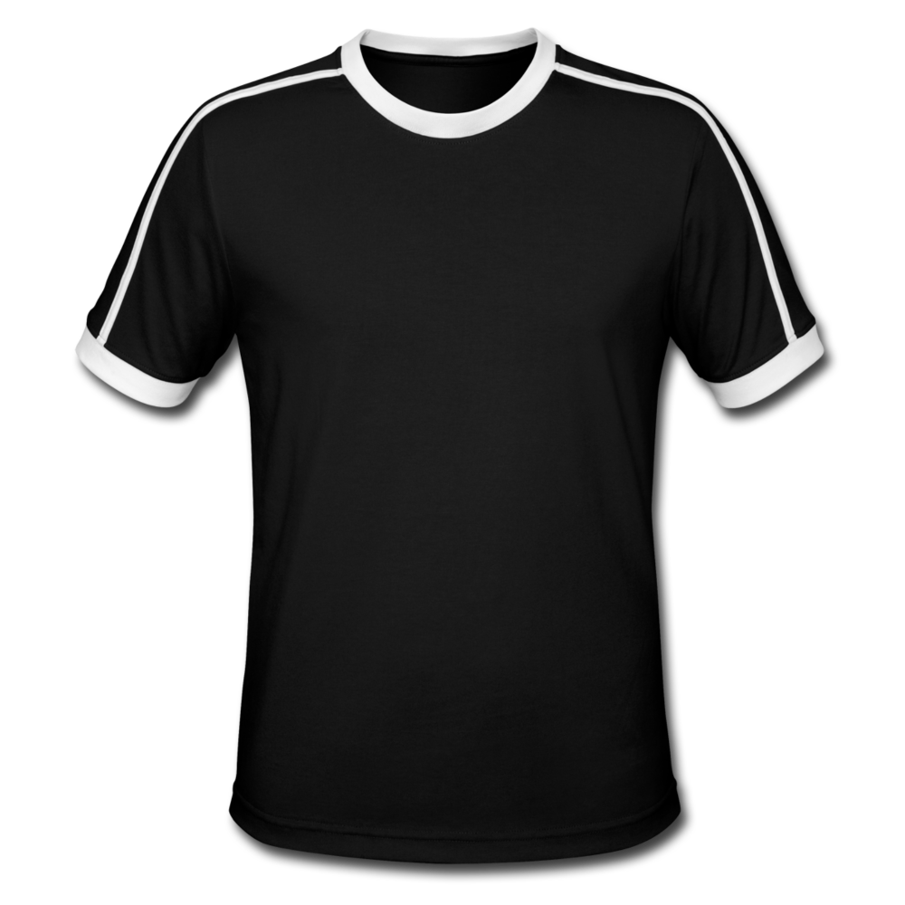 Men's Retro T-Shirt - black/white