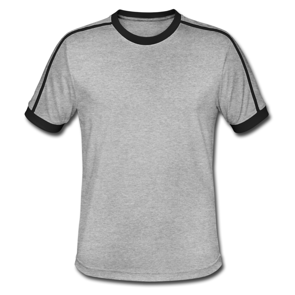 Men's Retro T-Shirt - heather grey/black