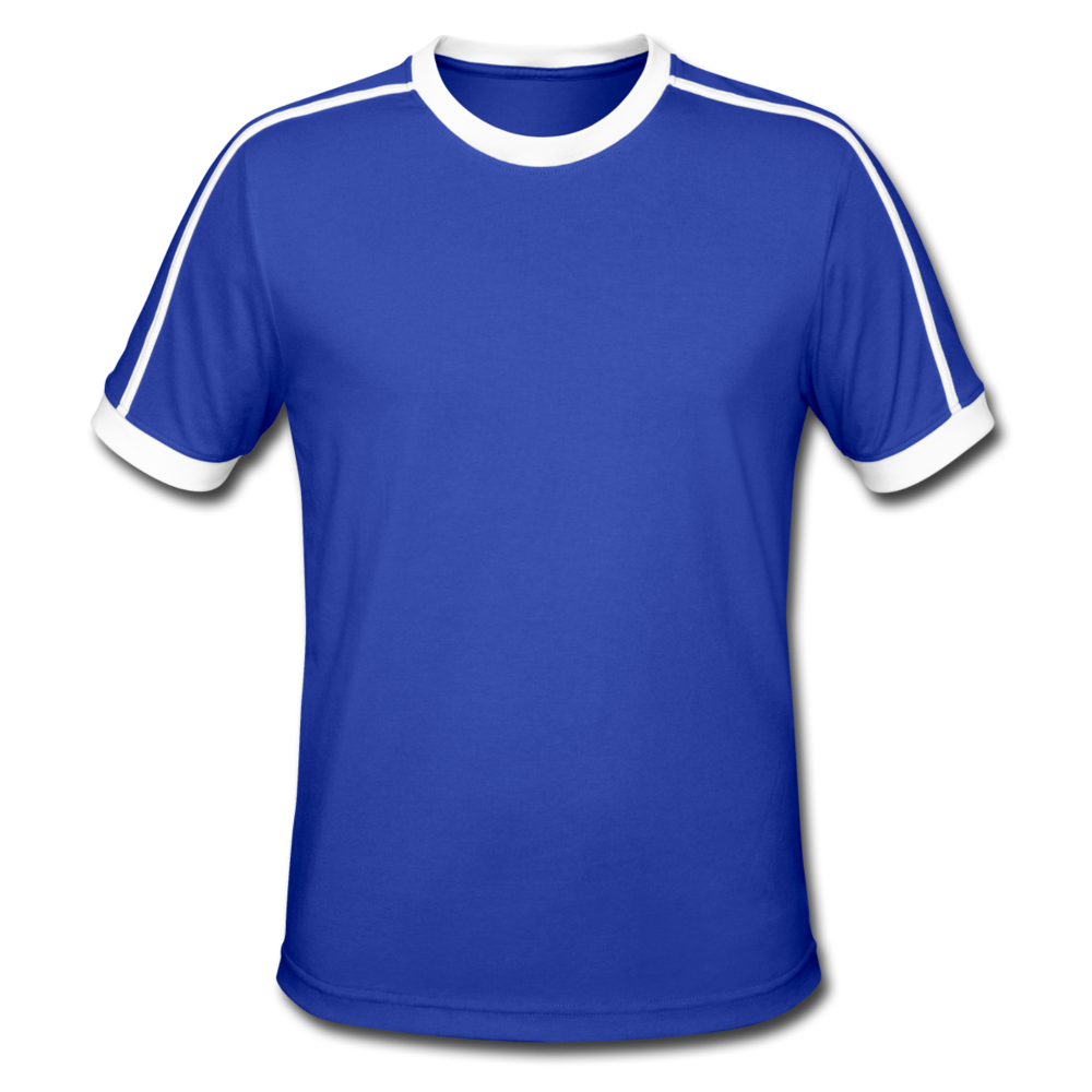 Men's Retro T-Shirt - royal/white