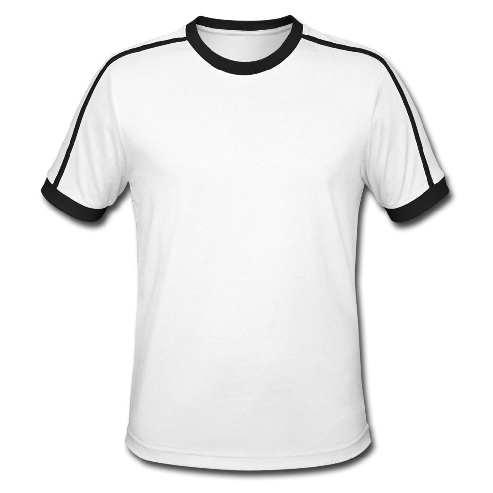 Men's Retro T-Shirt - white/black