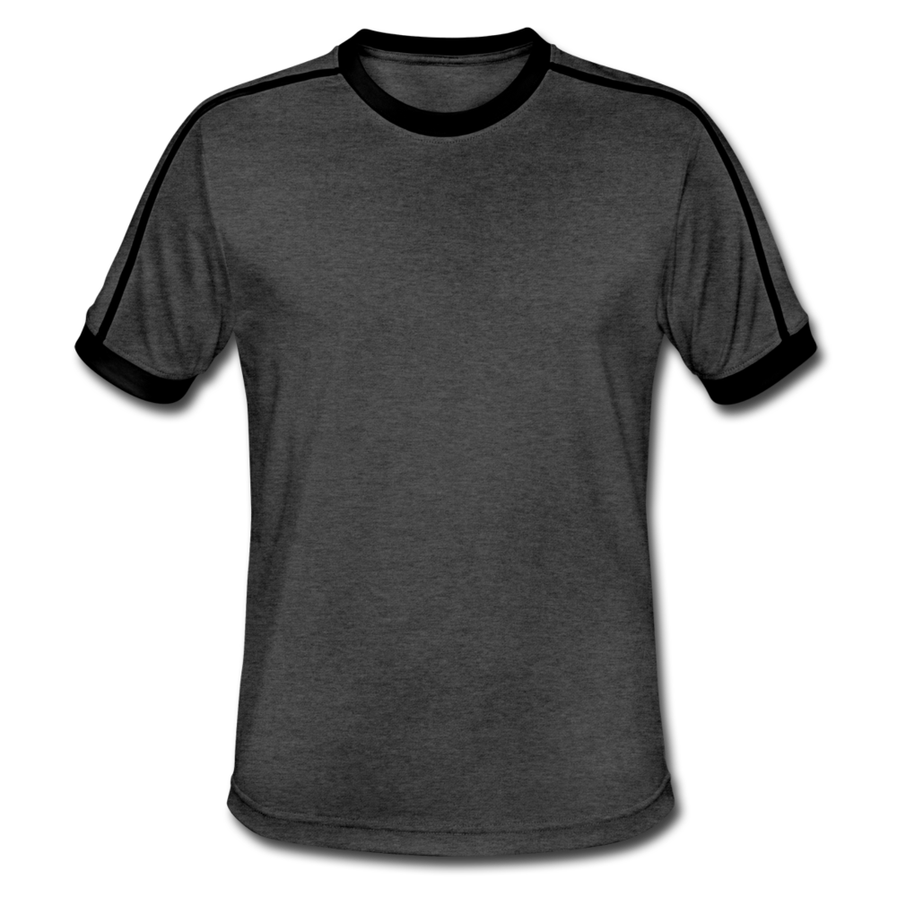 Men's Retro T-Shirt - charcoal/black