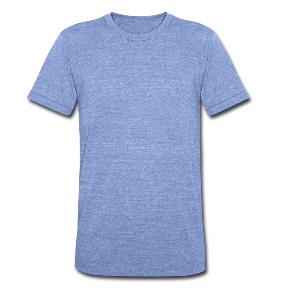 Unisex Tri-Blend T-Shirt by Bella & Canvas - heather blue