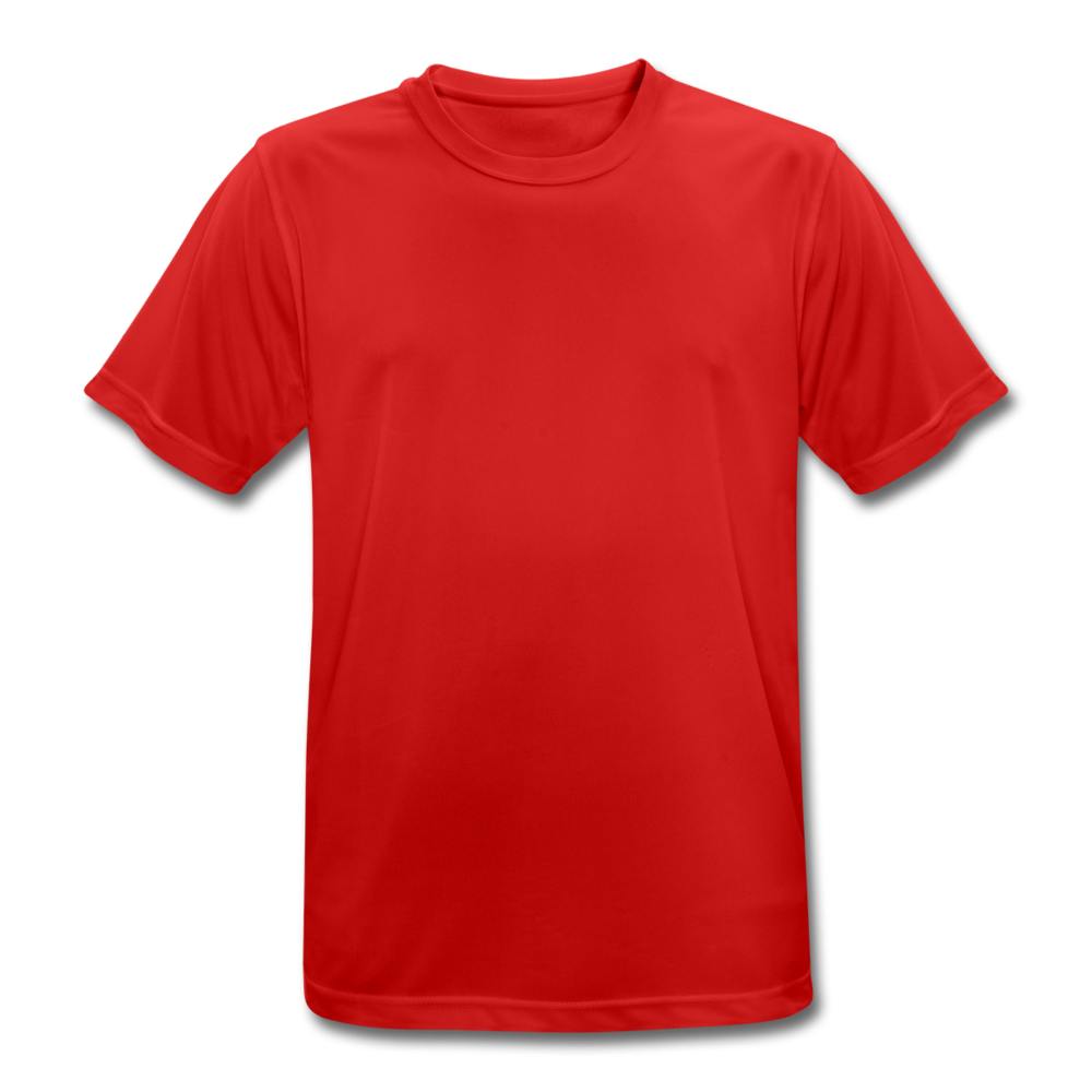 Men's Breathable T-Shirt - red