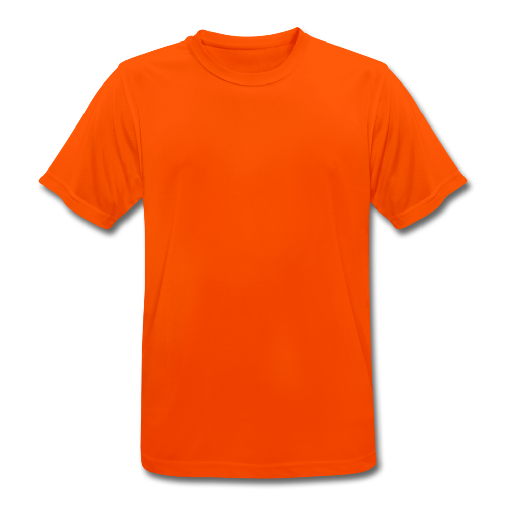 Men's Breathable T-Shirt - neon orange