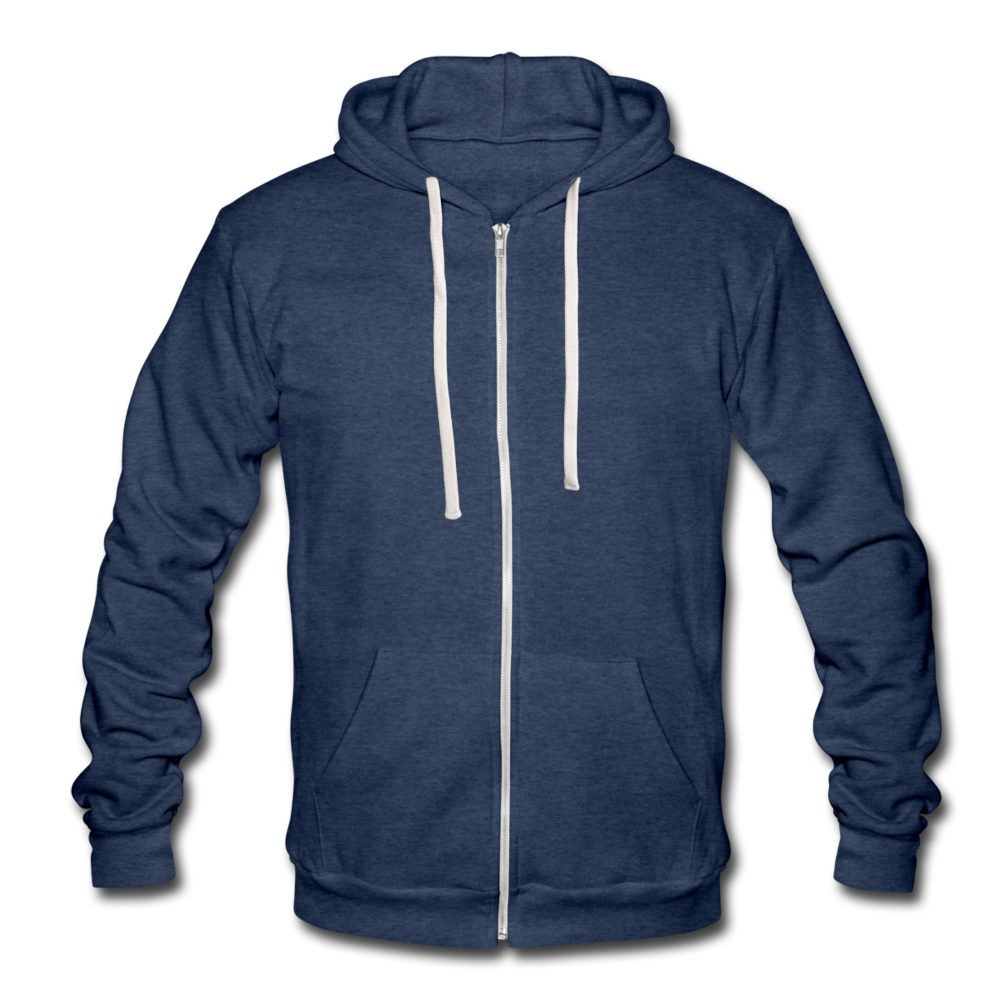 Unisex Tri-blend Hooded Jacket by Bella + Canvas - heather navy