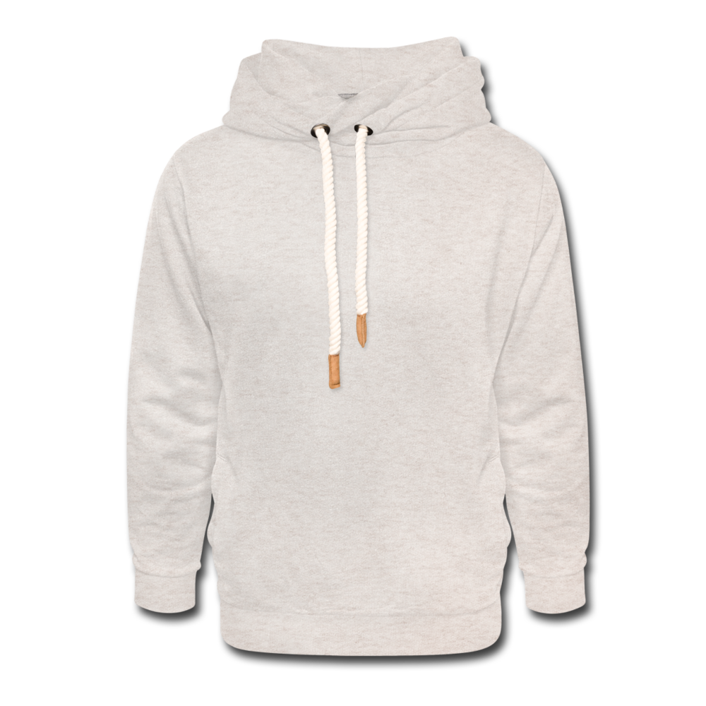 Shawl Collar Hoodie - heather oatmeal