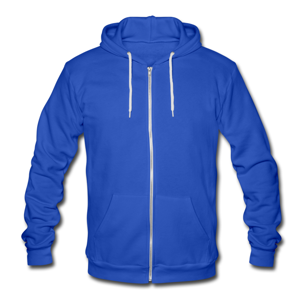 Unisex Hooded Jacket by Bella + Canvas - royal blue
