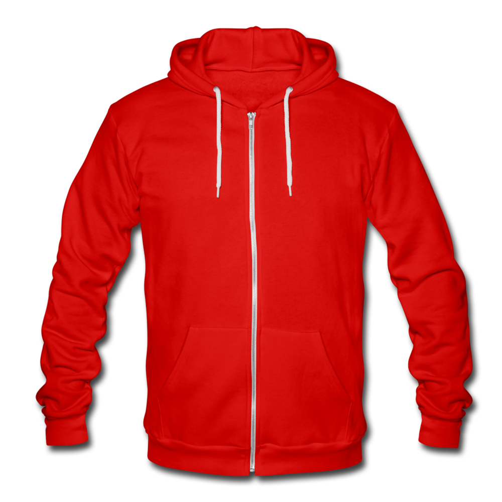 Unisex Hooded Jacket by Bella + Canvas - classic red