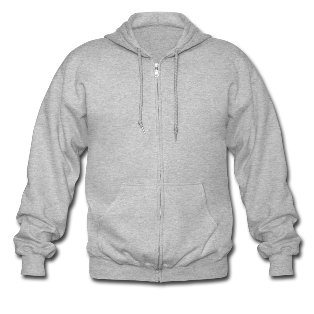 Men's Heavyweight Hooded Jacket - heather grey