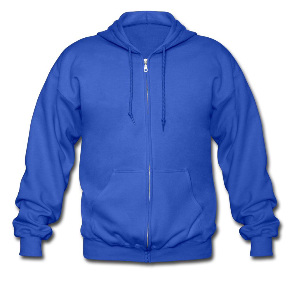 Men's Heavyweight Hooded Jacket - royal blue