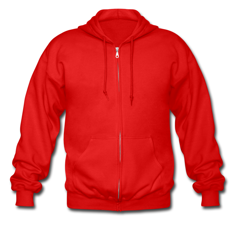 Men's Heavyweight Hooded Jacket - red