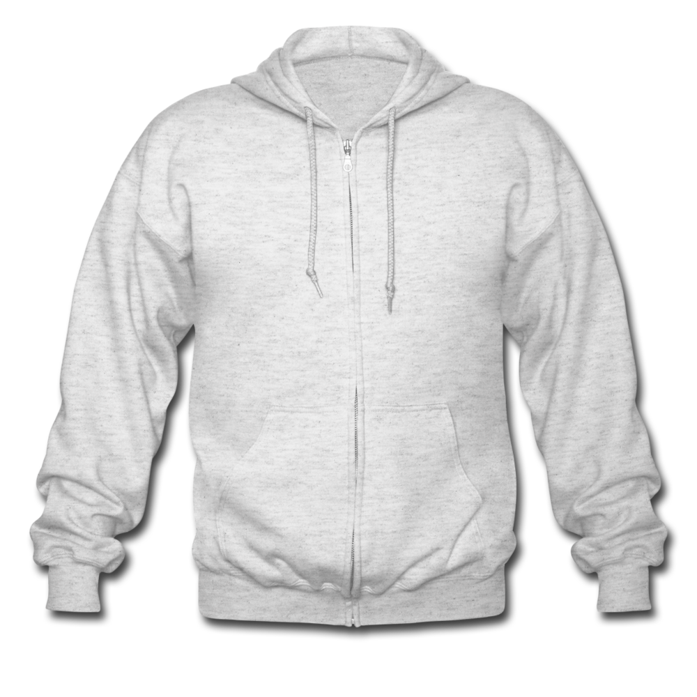 Men's Heavyweight Hooded Jacket - heather white