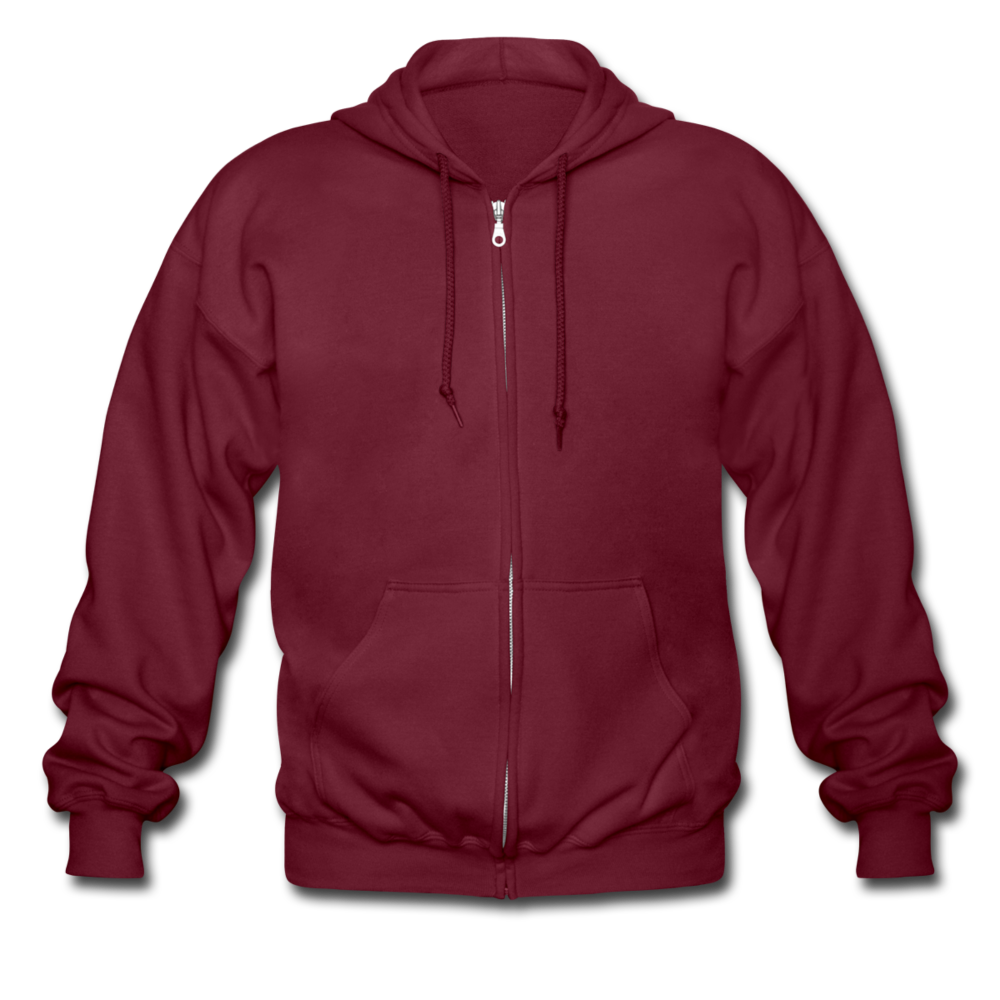 Men's Heavyweight Hooded Jacket - maroon