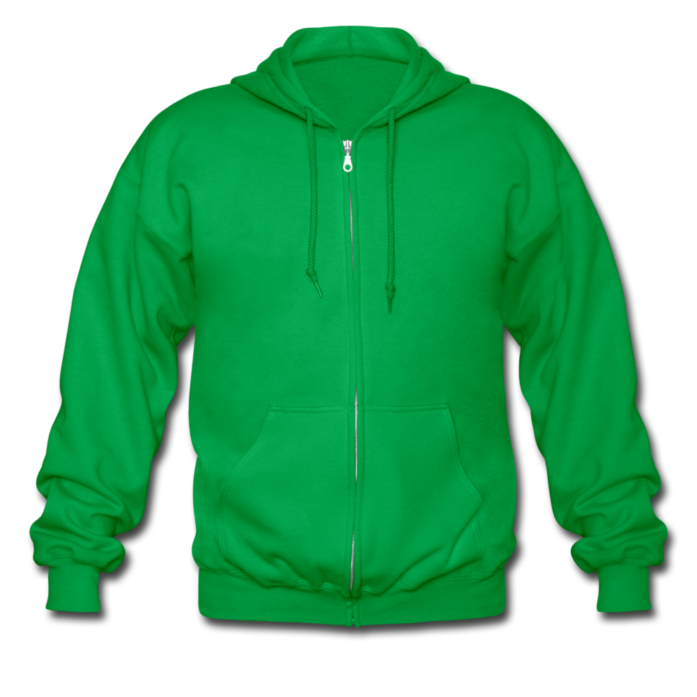 Men's Heavyweight Hooded Jacket - kelly green
