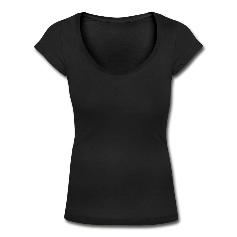 Women's Scoop Neck T-Shirt - black