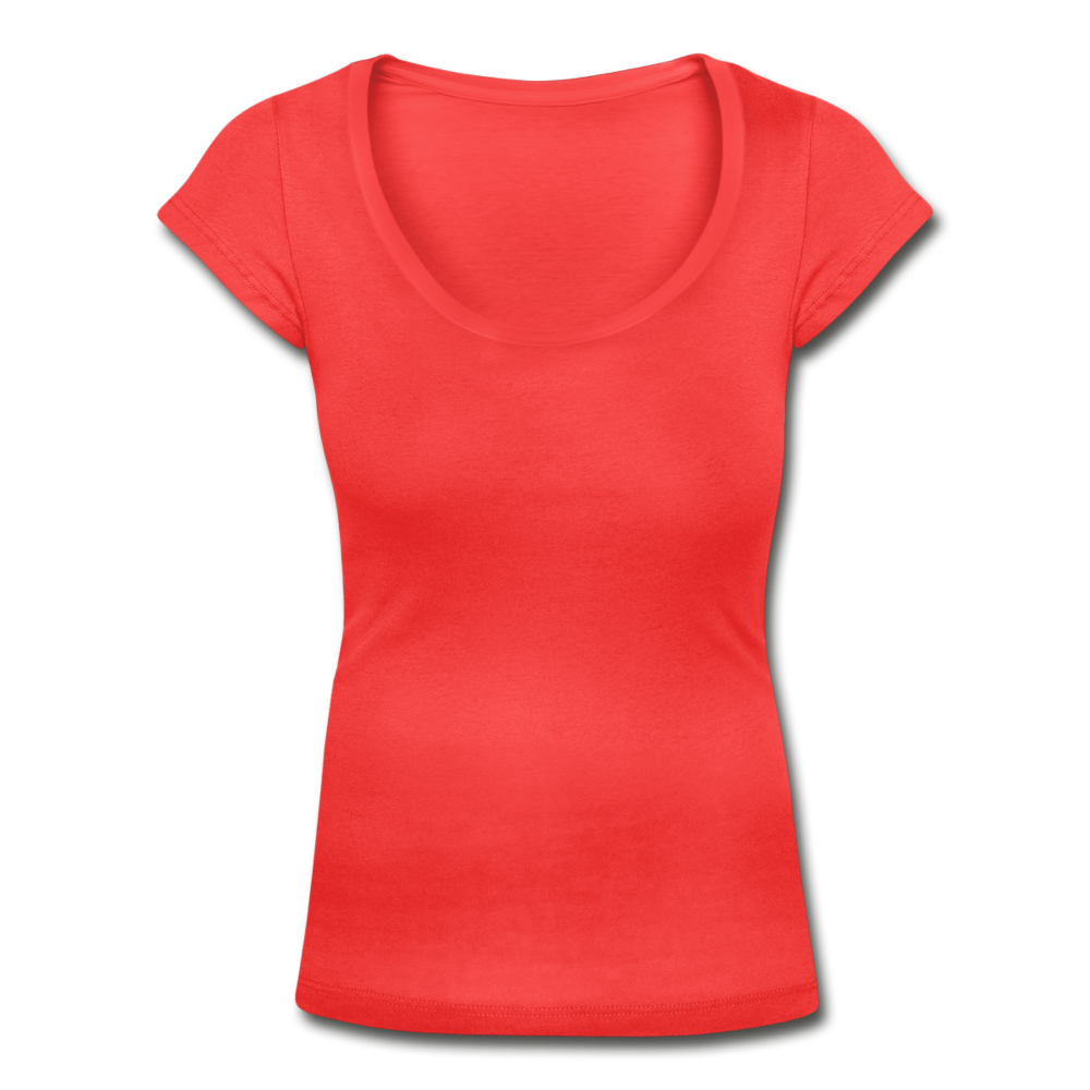 Women's Scoop Neck T-Shirt - coral