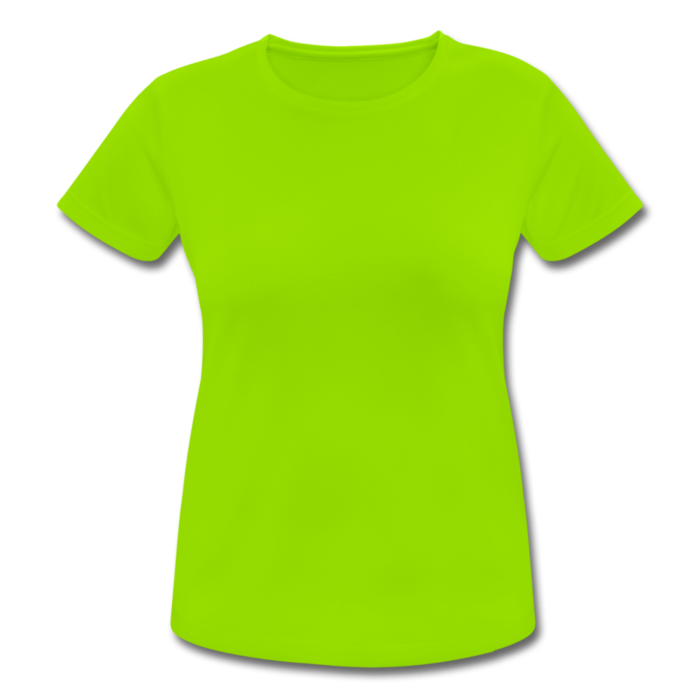 Women's Breathable T-Shirt - neon green