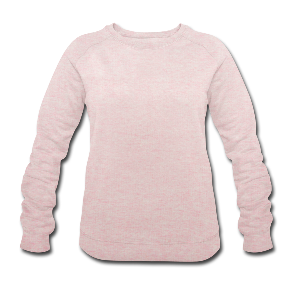 Women's Organic Sweatshirt by Stanley & Stella - cream heather pink