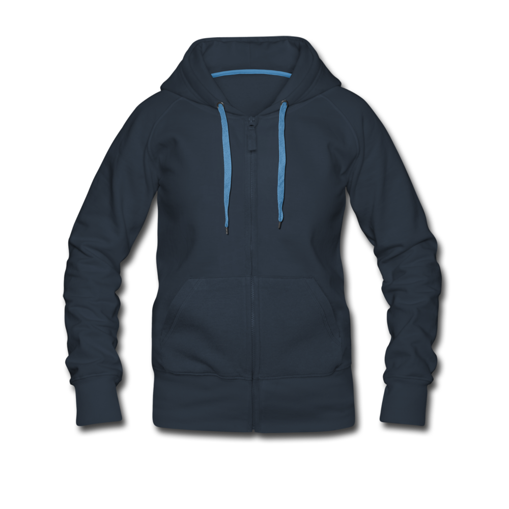 Women's Premium Hooded Jacket - navy
