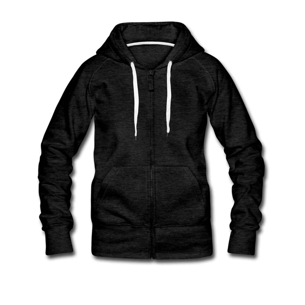 Women's Premium Hooded Jacket - charcoal grey