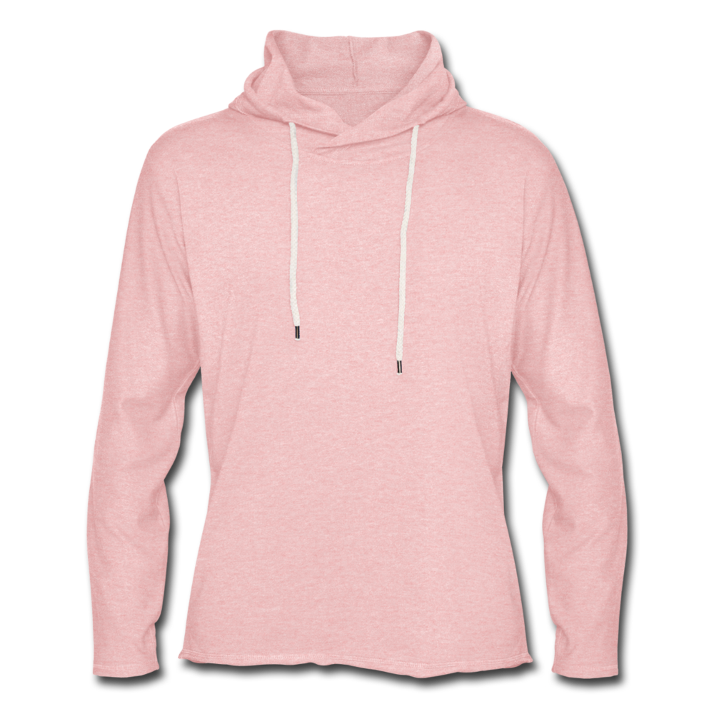 Light Unisex Sweatshirt Hoodie - cream heather pink