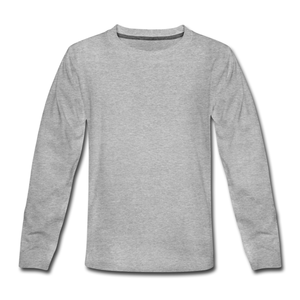 Kids' Premium Longsleeve Shirt - heather grey