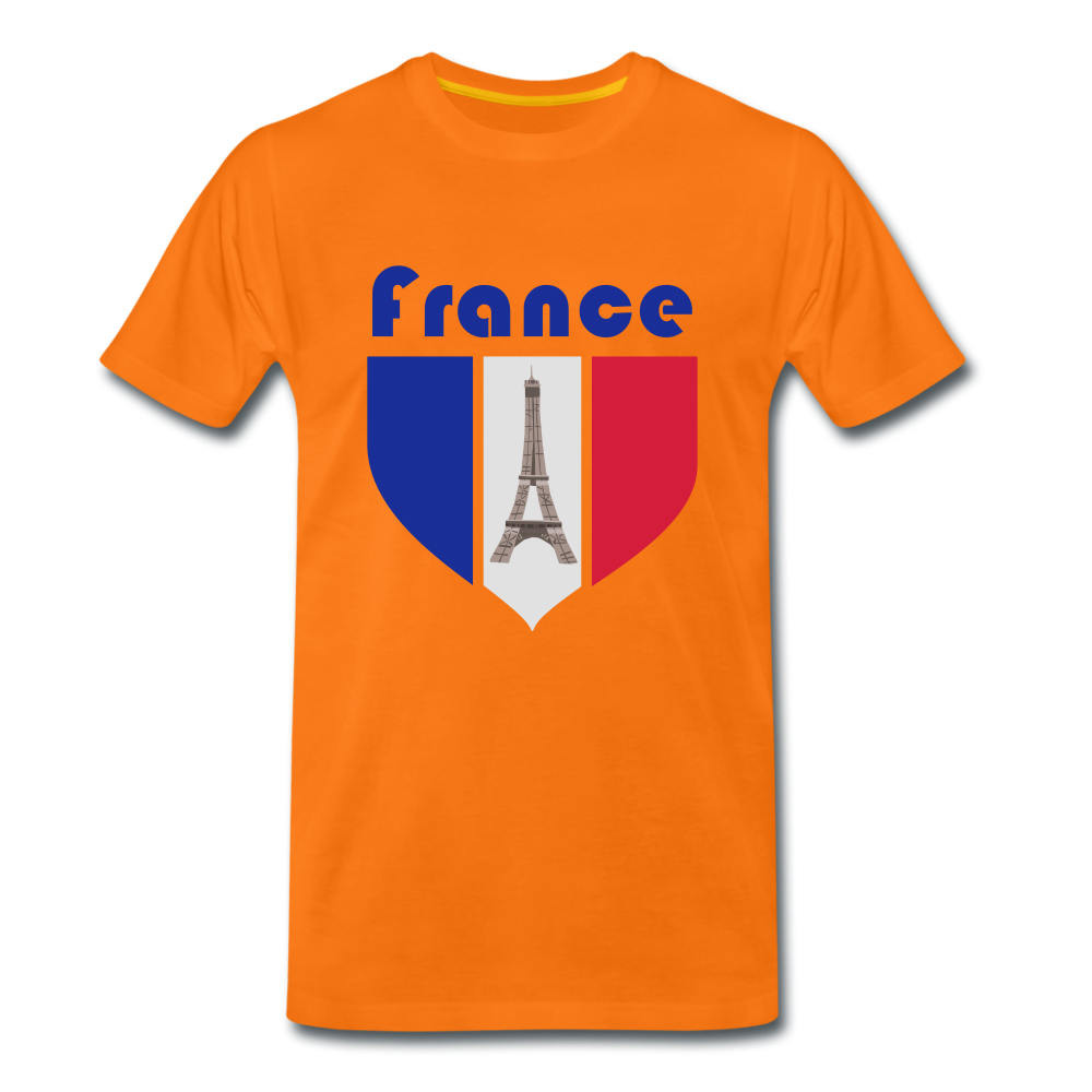 Männer Premium T-Shirt | France 🏆 - Orange