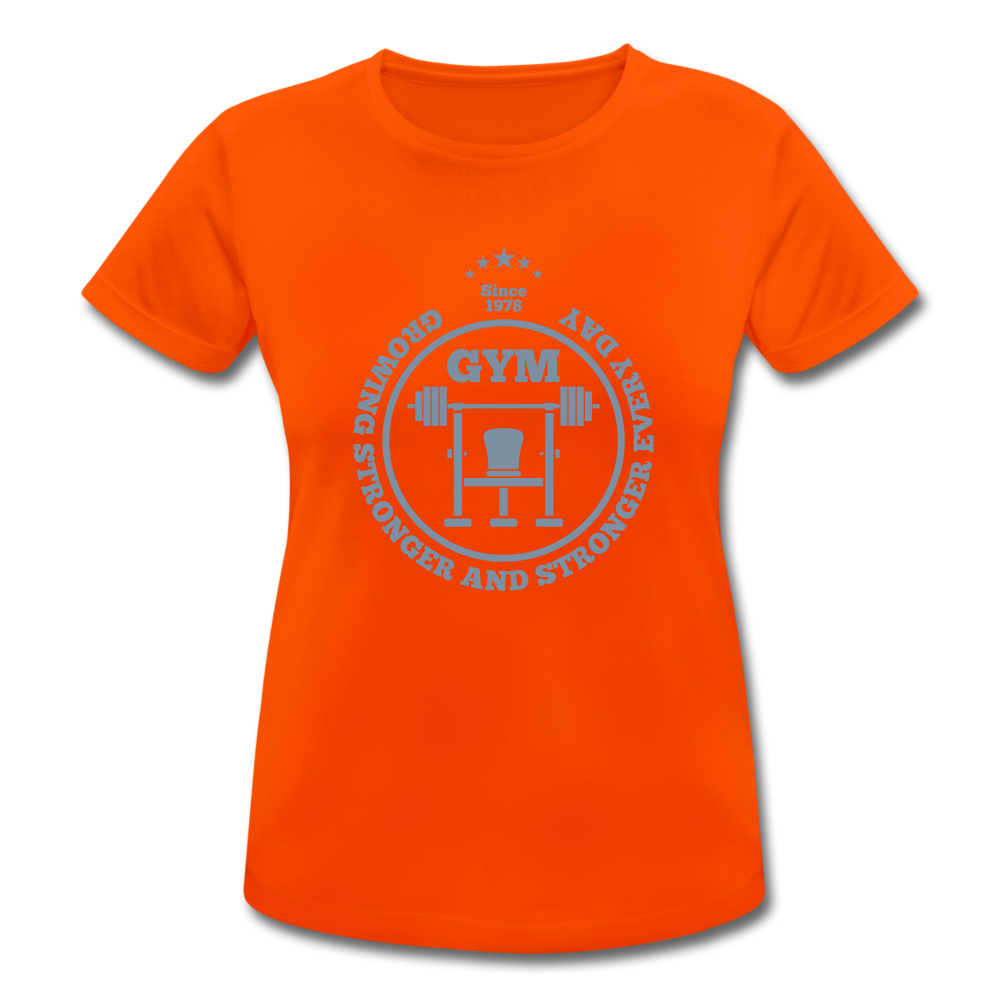 T-Shirt Just Cool Neoteric™ | every day stronger - silver gloss - Neonorange
