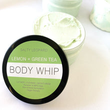 Load image into Gallery viewer, Lemon + Green Tea Whipped Soap