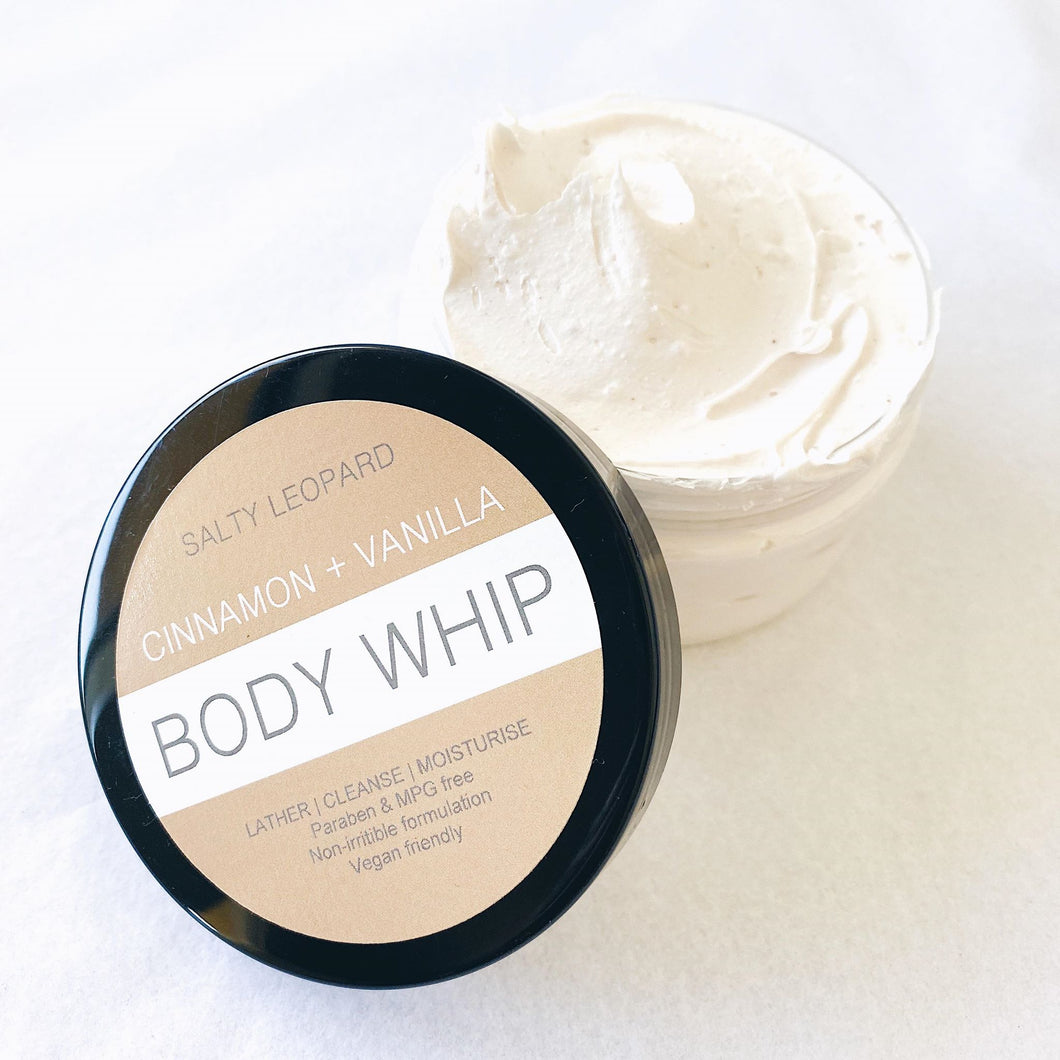 Cinnamon + Vanilla Whipped Soap
