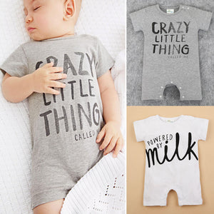 Baby&Kids Letter Print Sleeveless Baby Rompers Infant Newborn Baby Boys Girls Clothes Jumpsuits Baby Costumes