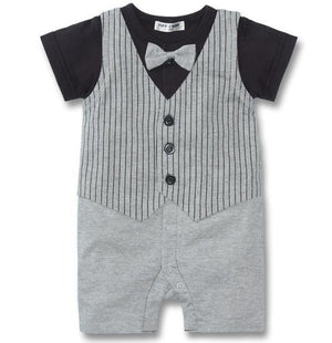 Tuxedo Baby Rompers Vest Baby Body suits Gentleman Baby Clothes newborn baby clothing roupa de bebe