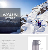 Haers Vacuum Insulated Water Bottle Stainless Steel Thermos Flask Bottle Beverage Vacuum Flasks Thermoses With  Cup 500ml