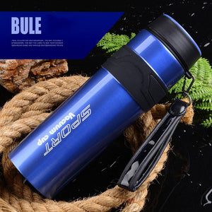 880ml Thermos Bottle with Rope Stainless Steel Tumbler Insulated Water Bottle Sport Vacuum Flask Coffee Travel Mug Climbing Cup