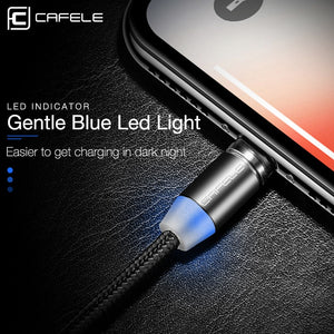 CAFELE LED Magnetic USB Cable Magnet Plug USB Type C Micro USB IOS Plug for iPhone Xs Xr X 8 7 6 Plus 5 SE huawei xiaomi samsung