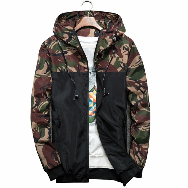 NaranjaSabor Spring Autumn Men's Jackets Camouflage Military Hooded Coats