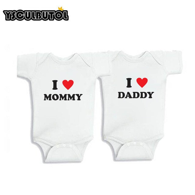 YSCULBUTOL  Baby Twins baby gifts Daddy's girl Mommy's boy outfits Twin baby shower Twin baby bodysuit