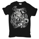 "T-Shirt Long Live ROCK N ROLL Rockabilly Hot Rod Cash King Biker Rocker Tattoos ""Short Sleeves Cotton Fashion T Shirt"