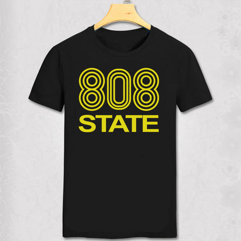 808 State DJ club T Shirt music dance rave retro T-shirt edm festival Madchester Bar Cool Fashion Men Cotton Summer Tee Shirt