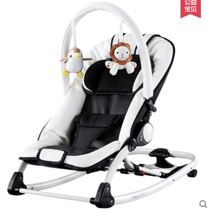 Astounding Leather Electrocar Baby Rocking Chair Multifunctional Toy Carry Baby Rocking Chair Baby Chaise Lounge Baby Cradle Squirreltailoven Fun Painted Chair Ideas Images Squirreltailovenorg